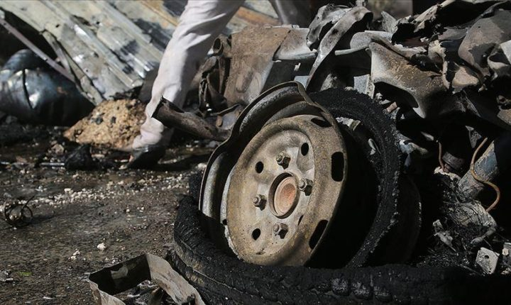 جرحى مدنيون بإنفجار مفخخة في الباب السورية