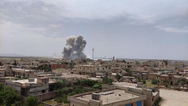 #عاجل || انفجار قوي مجهول المصدر في مستودع للذخيرة  بين #معرة_مصرين و #الفوعة شمالي #إدلب.