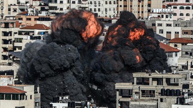 مقاتلات إسرائيلية تدمر بناية سكنية غربي غزة