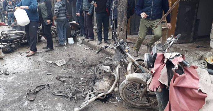 مقتل 3 مدنيين جراء انفجار دراجة نارية مفخخة شمالي سوريا